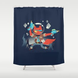 Bounty Hunter Space Cat Killa Shower Curtain