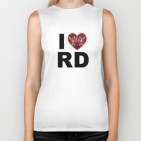 roller derby Biker Tanks featuring I heart roller derby by Andrew Mark Hunter