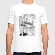 Nagasaki - China Town MEDIUM White Mens Fitted Tee