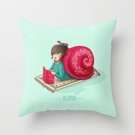Cozy snail Throw Pillow