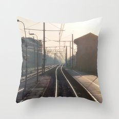 The Blurry Memory Of Leaving Home Throw Pillow
