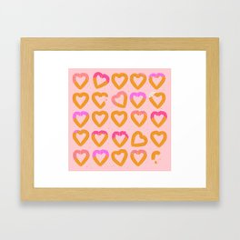 Churro Hearts Framed Art Print