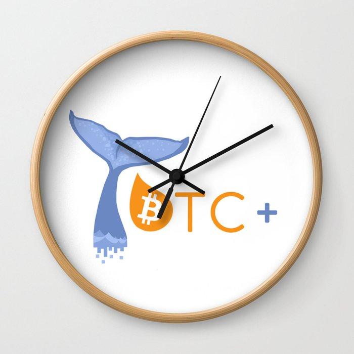 BTC PLUS Wall Clock