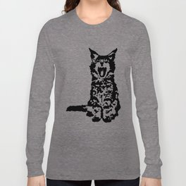 Screaming Kitten (Black & White) Long Sleeve T-shirt