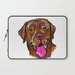 The happy Chocolate Lab Love of My Life Laptop Sleeve