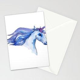 Watercolor Unicorn Illustration Stationery Cards