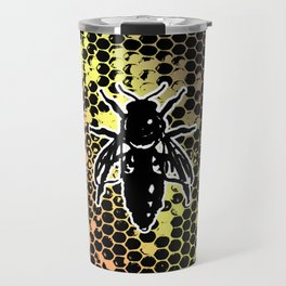 Geometrical Honeycomb & Bee Travel Mug