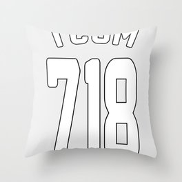 TCOM 718 AREA CODE JERSEY Throw Pillow