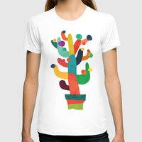 cactus T-shirts featuring Whimsical Cactus by Picomodi