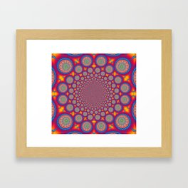 BBQSHOES: Wheels Of Time II Fractal Mandala Framed Art Print