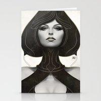 artgerm Stationery Cards featuring Pepper Spade by Artgerm™