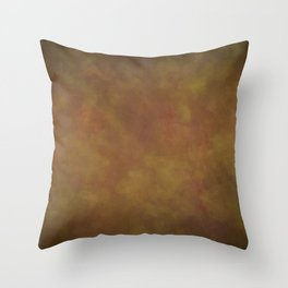 Abstract Watercolor Patch Work Blend 11 Light Brown & Dark Brown, Earth Tones Throw Pillow