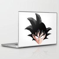 goku Laptop & iPad Skins featuring Geometric Goku by Something a Little Awesome
