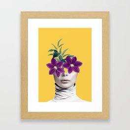 Floral Portrait 2 Framed Art Print