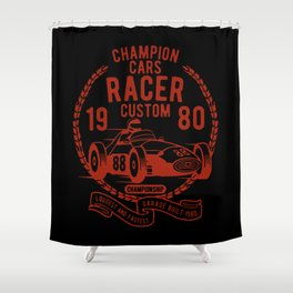 champion cars racer Shower Curtain