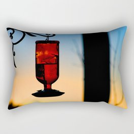 hummingbird feeder Rectangular Pillow