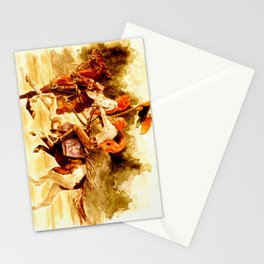 Horses and People No.1 Stationery Cards