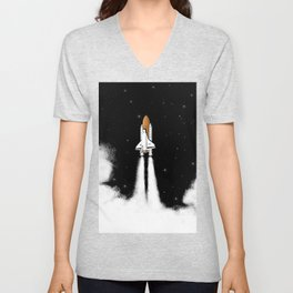 Shuttle Launch Unisex V-Neck