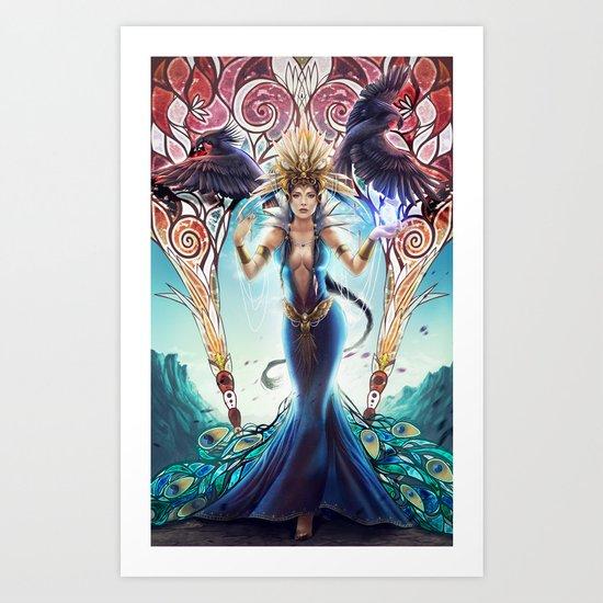 Goddess of birds Art Print