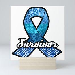 Survivor Blue Ribbon Mini Art Print