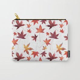 Dead Leaves over White Carry-All Pouch