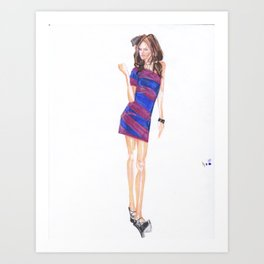 Attitude! Art Print