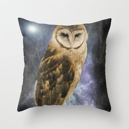 Wise Old Owl - Image Art Throw Pillow