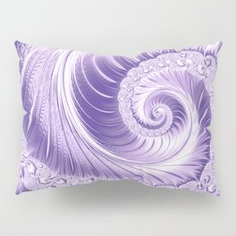Ultra Violet Luxe Spiral Pattern | Trendy Color of the Year 2018 Pillow Sham