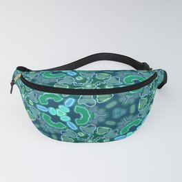Teal, blue and green abstract pattern Fanny Pack
