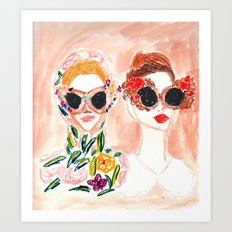 Dolce and Gabbana Girls Art Print