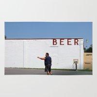 beer Area & Throw Rugs featuring Beer by Alexandra Nicole