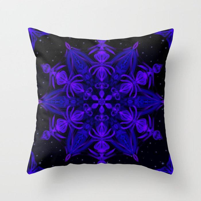 Crystal Blossom Adrift Throw Pillow