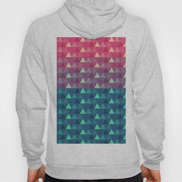 Abstract pink blue geometrical triangles pattern Hoody