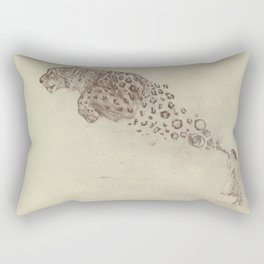 Bubbles the Snow Leopard Rectangular Pillow