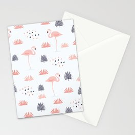 Minimal Flamingo Stationery Cards