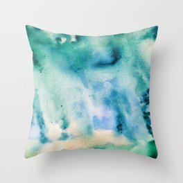 Watercolor abstract many color no.16 Throw Pillow