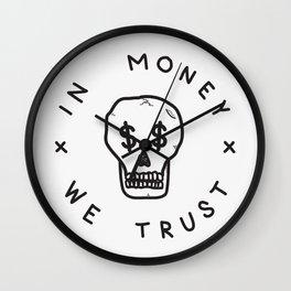 In Money We Trust Wall Clock