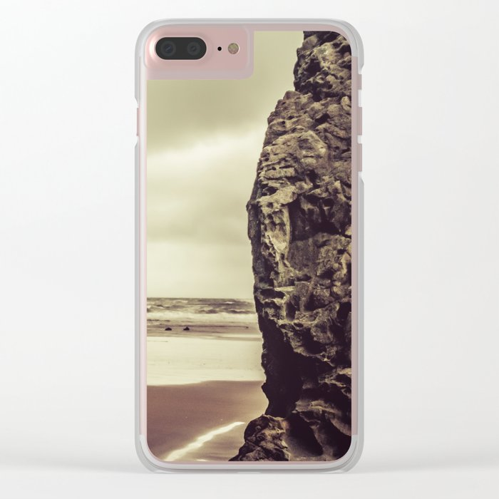 Ocean Beach - Sacred Space by the Sea Clear iPhone Case