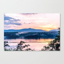 Sunset Over The Catskill Mountains Canvas Print