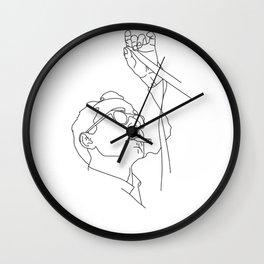 Jean-Luc Godard minimal line drawing Wall Clock