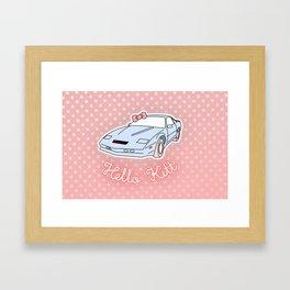 Hello Kitt Framed Art Print