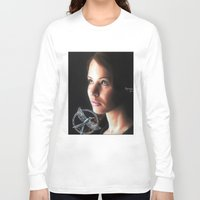 katniss Long Sleeve T-shirts featuring Katniss Everdeen  by drawingsbyignacio