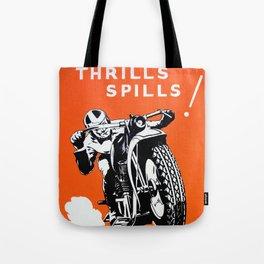 Vintage Motorcycle Poster Tote Bag