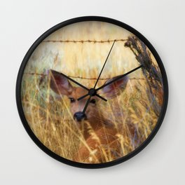 The Fawn Wall Clock