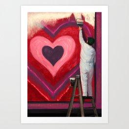 Valentine's Day Illustration Art Print