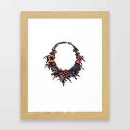 Beaded Necklace Framed Art Print