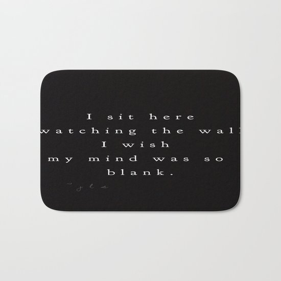 Thoughts Bath Mat