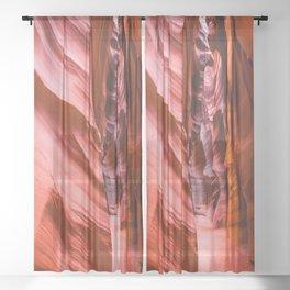 Deep Inside - Antelope Canyon in Desert Southwest Sheer Curtain