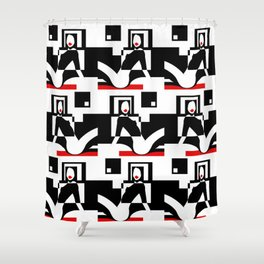 Incognito RED Shower Curtain