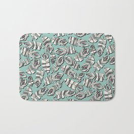 deco feathers mint ruby Bath Mat